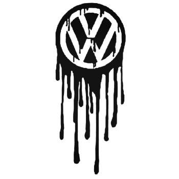 DRIPPING VW Vinyl Car Sticker VW Van Camper Hippy Decal LARGE 285mm x 116mm
